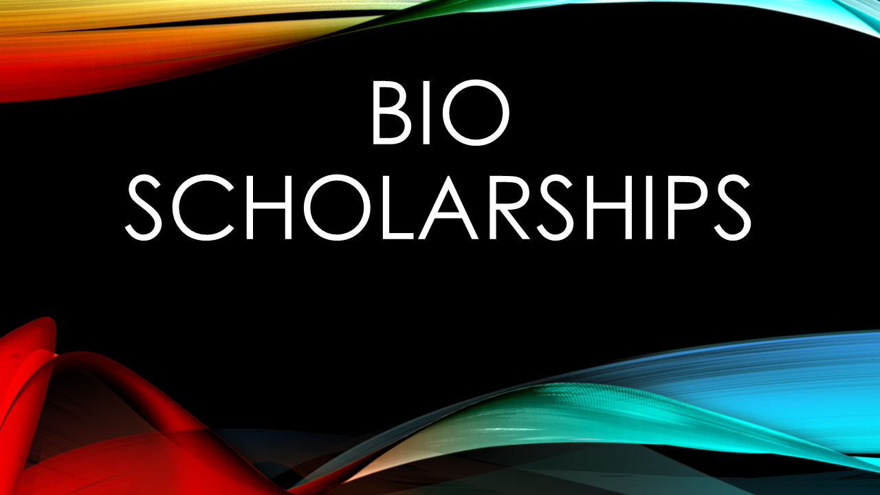 2017-2018 Biological Sciences Scholarship Awards in Excess of $32,000